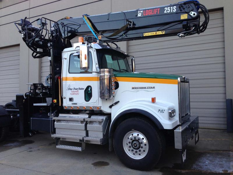 Forest Self-Loader Cranes from HIAB in BC, Alberta, Sask and Manitoba